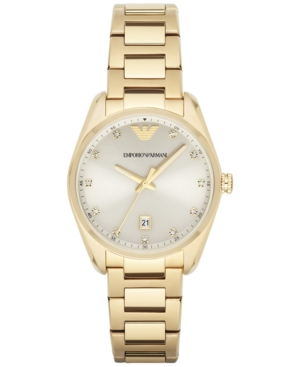 Emporio Armani Women's Gold-Tone Stainless Steel Bracelet Watch 36mm AR6064