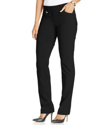 Image of JM Collection Curvy-Fit Slim-Leg Pants, Only at Macy's