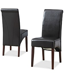 Easton Set of 2 Faux Leather Deluxe Parson Chairs