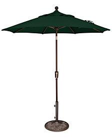 Outdoor Bronze 7.5' Push Button Tilt Umbrella, Quick Ship