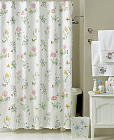 "Lenox ""Butterfly Meadow"" Shower Curtain Bath Collection"