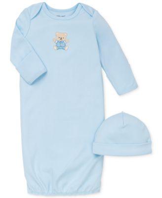 Baby Boys Cute Bear Hat & Gown Set