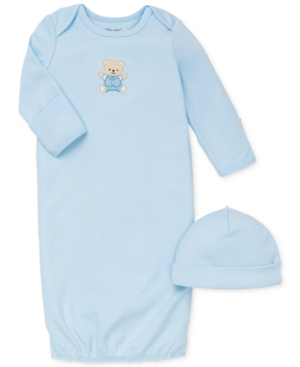 Little Me Baby Boys Cute Bear Hat & Gown Set