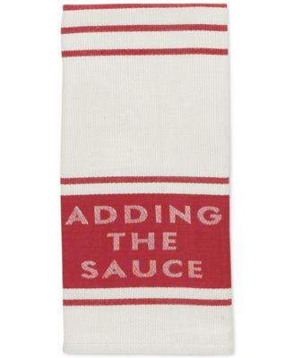 kate spade new york Adding the Sauce Diner Stripe Kitchen Towel