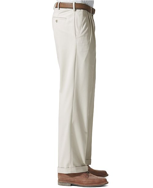 d2ef273ee7cc81 ... Dockers Men's Comfort Relaxed Pleated Cuffed Fit Khaki Stretch Pants ...