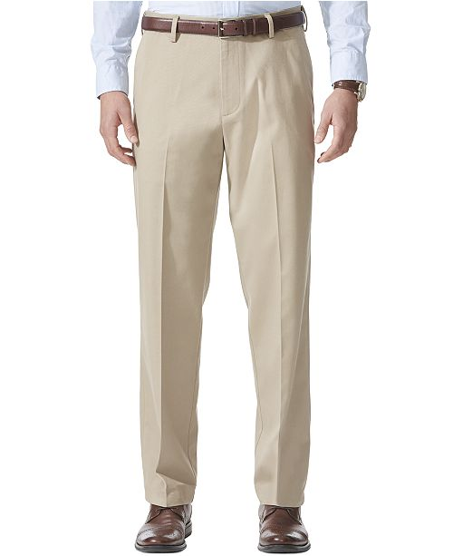 Men S Comfort Relaxed Fit Khaki Stretch Pants
