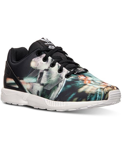 finest selection cd409 0277f ... adidas Big Boys  ZX Flux Star Wars Millennium Falcon Casual Sneakers  from Finish ...