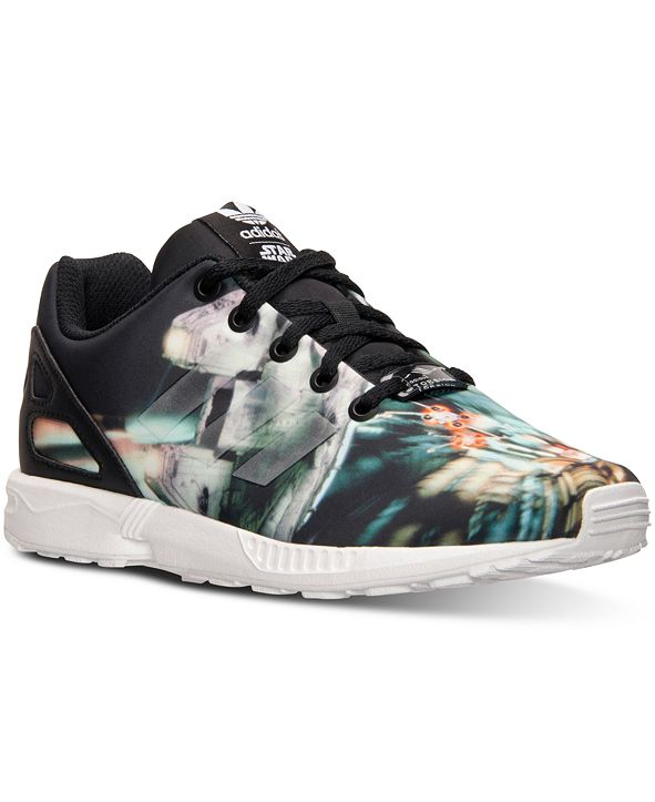 adidas Big Boys' ZX Flux Star Wars Millennium Falcon Casual Sneakers from Finish Line