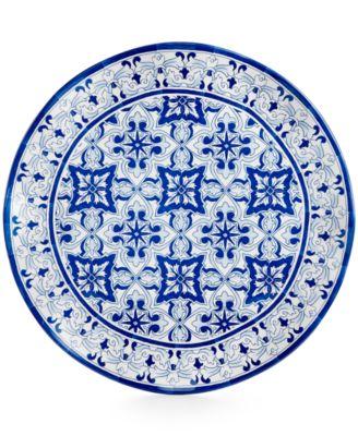 "Talavera Azul Collection Melamine 16"" Serving Platter"