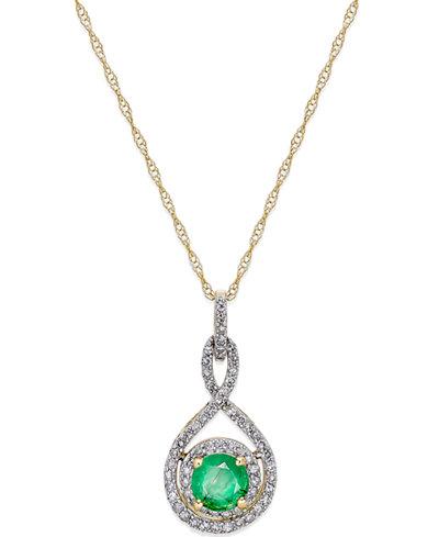Sapphire (1/2 ct. t.w.) and Diamond (1/4 ct. t.w.) 18