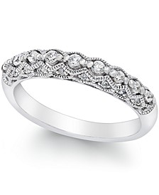 Diamond Milgrain Band Ring (1/4 ct. t.w.) in 14K White Gold or Gold