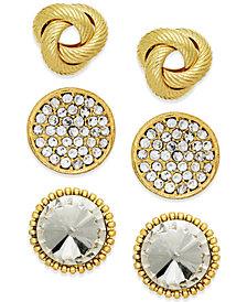 Thalia Sodi Gold-Tone Stud Earring Set