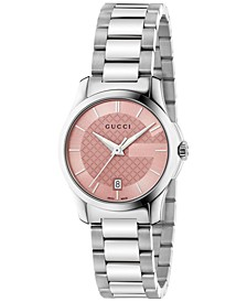 Women's Swiss G-Timeless Stainless Steel Bracelet Watch 27mm YA126524