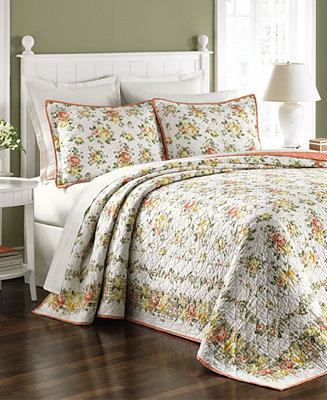martha stewart collection rose cottage twin bedspread only at macy 39 s quilts bedspreads. Black Bedroom Furniture Sets. Home Design Ideas