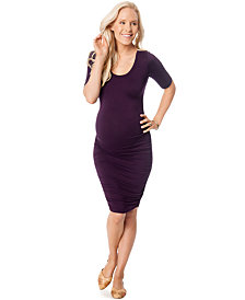 Motherhood Maternity Ruched Bodycon Dress