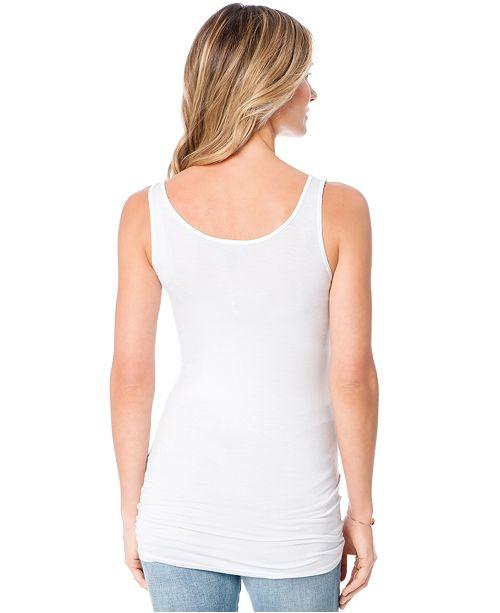 c07461d40 Luxe Essentials Maternity Shelf-Bra Tank Top   Reviews - Maternity ...
