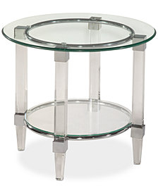 CLOSEOUT! Cristal Round End Table