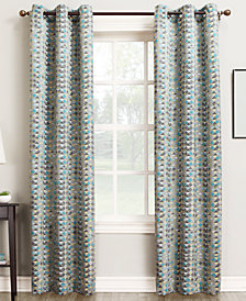 "CLOSEOUT! Sun Zero Raden Printed Room Darkening Grommet 40"" x 84"" Panel"