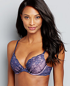 Maidenform Comfort Devotion Embellished Plunge Push-Up Bra 9443