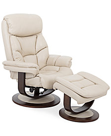 Aby Leather Recliner Chair & Ottoman