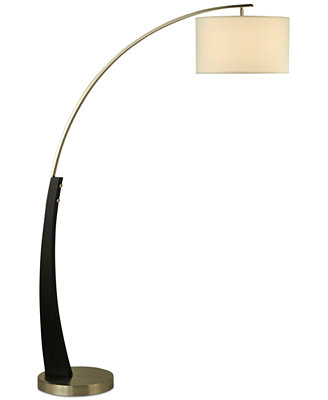 Plimpton Wood Arc Floor Lamp by Nova Lighting