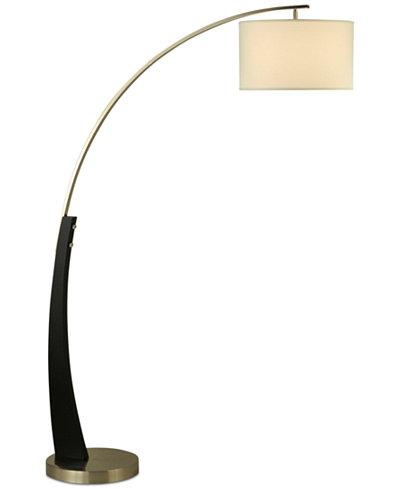 Nova Lighting Plimpton Wood Arc Floor Lamp Lighting