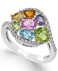 Multi-Stone Ring (2-1/3 ct. t.w.) in 14K White Gold
