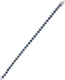 Sapphire Tennis Bracelet (10 ct. t.w.) in Sterling Silver, Created for (Also Available in Emerald)