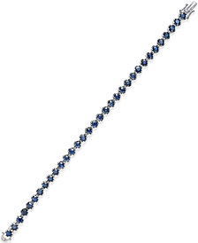 Sapphire Tennis Bracelet (10 ct. t.w.) in Sterling Silver, Created for Macy's