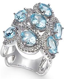 Aquamarine (5-9/10 ct. t.w.) and Diamond (5/8 ct. t.w.) Ring in 14k White Gold