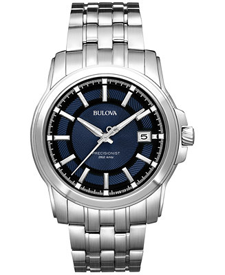 Bulova Men S Precisionist Stainless Steel Bracelet Watch