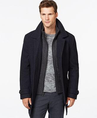 MICHAEL Michael Kors Men's Big & Tall Wool-Blend Car Coat - Coats