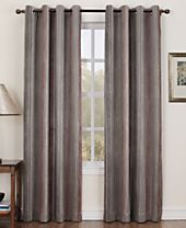 Sun Zero Collins Crushed Striped Room Darkening Woven Curtain Panel Collection