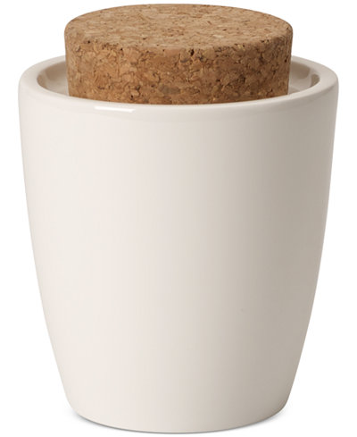 Villeroy & Boch Serveware Artesano Collection Porcelain & Cork Lidded Sugar Dish