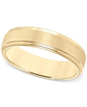Comfort-Fit 6mm Wedding Band in Yellow Tungsten