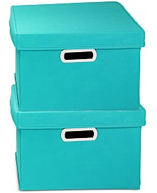 Household Essentials 2-Pc. Storage Cube Set with Lids