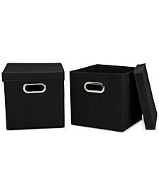 2-Pc. Storage Cube Set with Lids