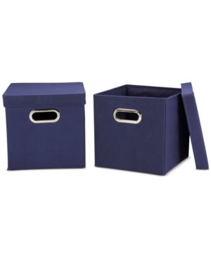 Household Essentials 2Pc Storage Cube Set with Lids