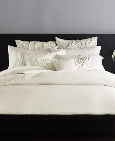 CLOSEOUT! Donna Karan Silk Essentials Pearl Duvet Covers