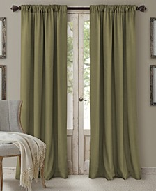 "Cachet 52"" x 95"" Faux Silk 3-in-1 Curtain Panel"