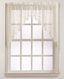 "No. 918 Joy Lace 60"" x 38"" Pair of Swag Valances"