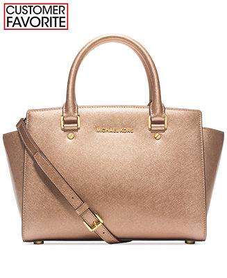 $178.39 MICHAEL Michael Kors Selma Medium Satchel(3 colors)
