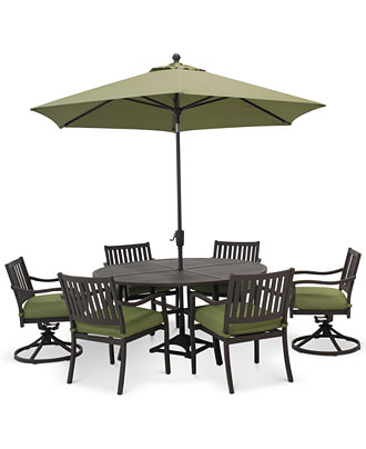 outdoor aluminum 7 pc dining set 60 round dining table 4 dining