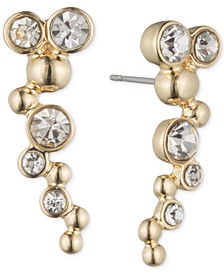 Gold-Tone and Crystal Bubble Ear Cuff