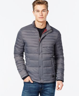 Kenneth Cole Quilted Puffer Hipster Jacket - Coats & Jackets - Men ... : quilted down jacket mens - Adamdwight.com