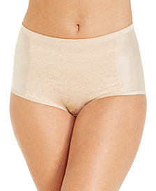Vanity Fair Women's  Smoothing Comfort Brief Body Caress Lace Brief 13262