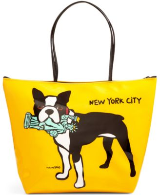 NYC Terrier Medium Zip Tote