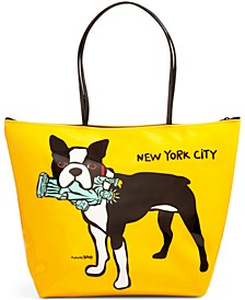 NYC Terrier Medium Zip Tote
