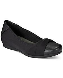 Mitsy Memory Foam Hidden Wedge Flats