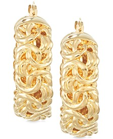 Signature Gold™ Byzantine Hoop Earrings in 14k Gold over Resin